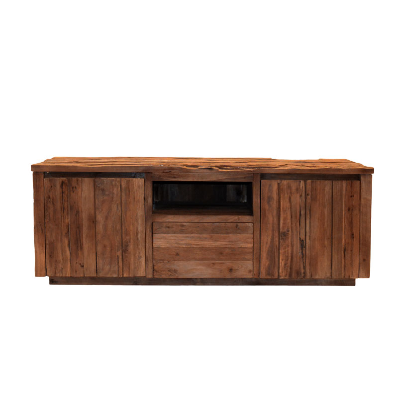 bridge teak tv meubel 150 cm megafurn. Black Bedroom Furniture Sets. Home Design Ideas
