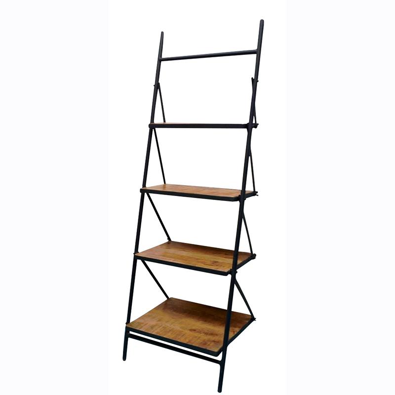 Ladder Kast Mango Met Zwart Staal